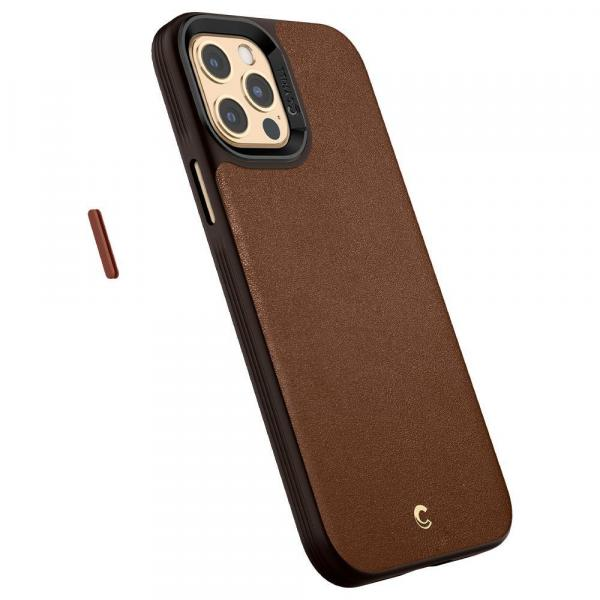 Ốp Spigen Cyrill iPhone 12 Pro Max Case Ciel by Cyrill Leather Brick