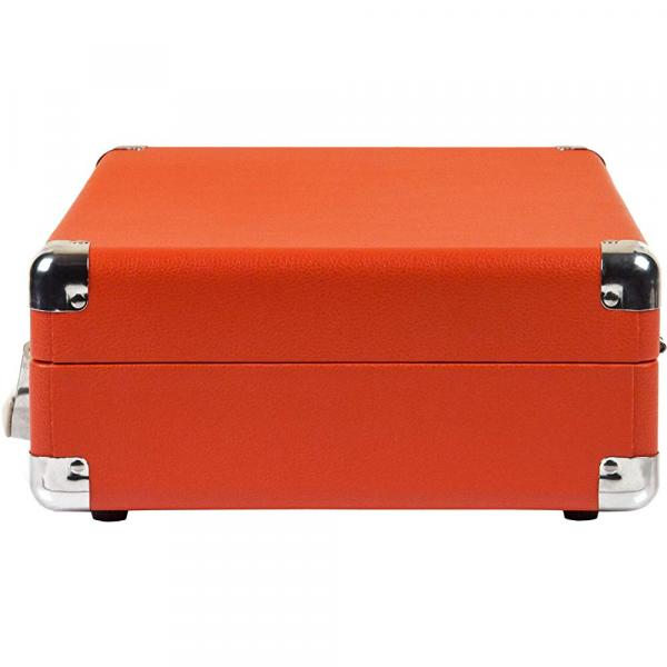 Crosley Cruiser Deluxe Vintage 3-Speed Bluetooth Suitcase Turntable, Orange