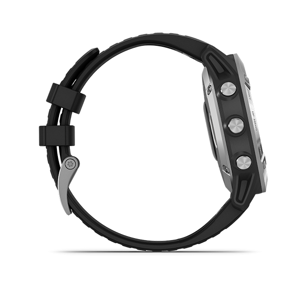 Garmin Fenix 6 - Silver with Black Band, Non -Sapphire