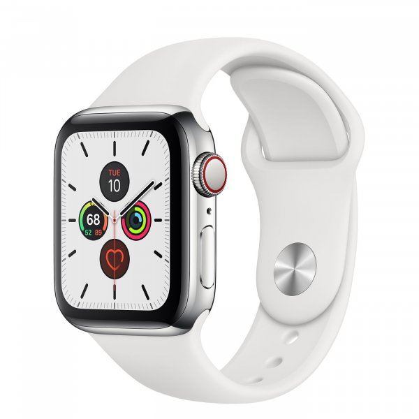 Apple watch 44mm GPS + Cellular Thép trắng dây cao su