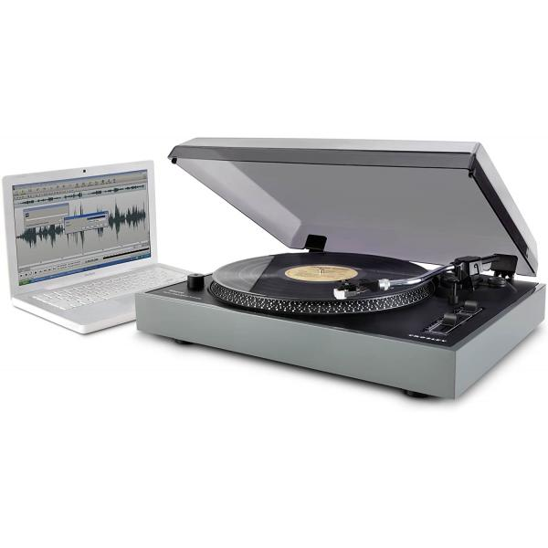 Crosley CR6009A-GY Advance Turntable With USB And Software For Ripping & Editing Audio, Grey
