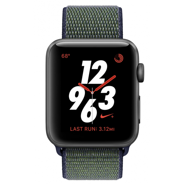 Apple Watch 38mm Nike+ Space Gray Aluminum Case with Midnight Fog Nike Sport Loop