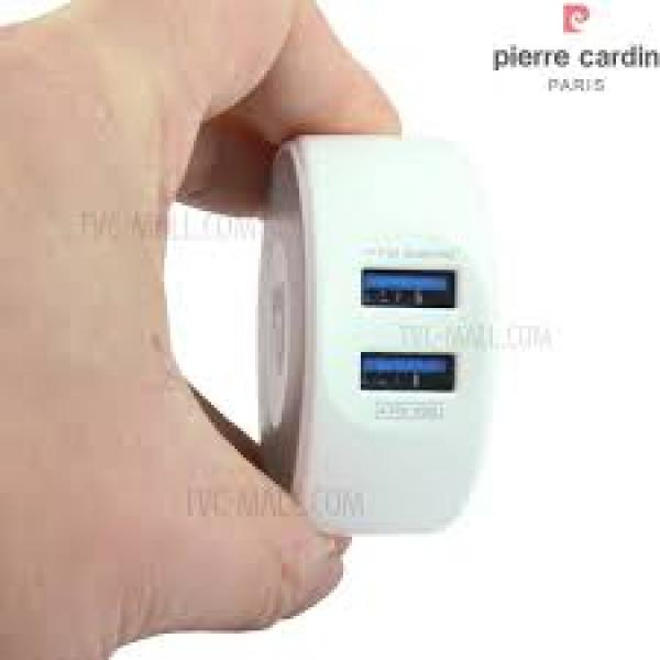 Sạc Pierre Cardin 2.1A output charger with 2 USB slot