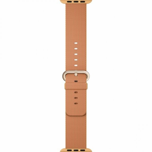Dây Apple Watch 44mm Gold/Red Woven Nylon