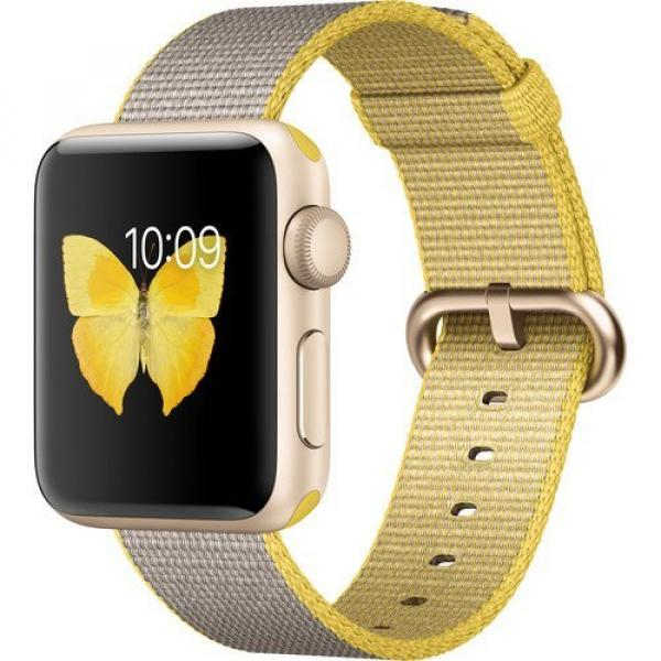 Dây Apple Watch 40mm Yellow/Light Gray Woven Nylon Band