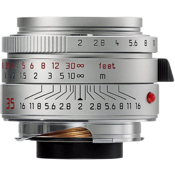 Leica Wide Angle 35mm f/2.0 Summicron M Aspherical Manual Focus Lens - Silver