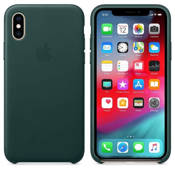 Ốp iPhone X/XS leather Case